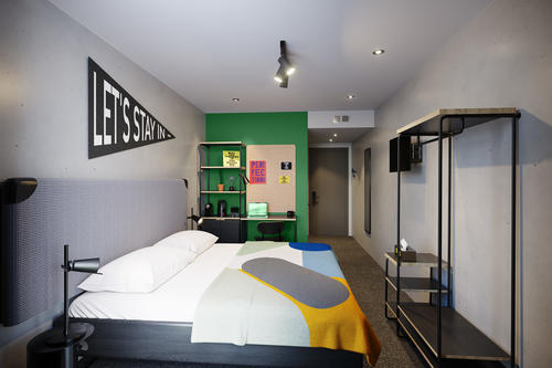 Single room at The Student Hotel